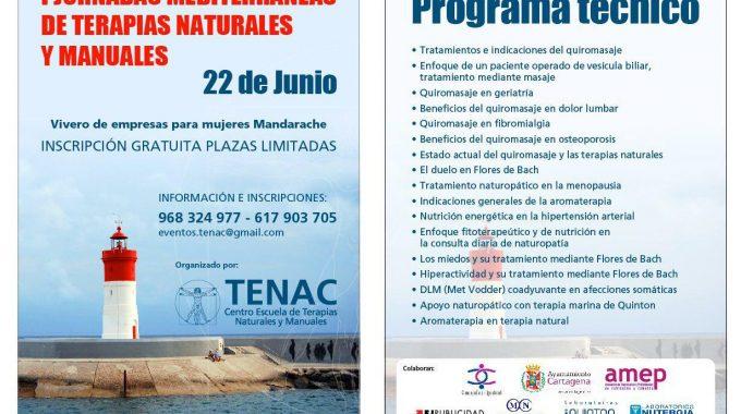 JUNIO 2018. JORNADAS MEDITERRANEAS DE TERAPIAS NATURALES Y MANUALES.