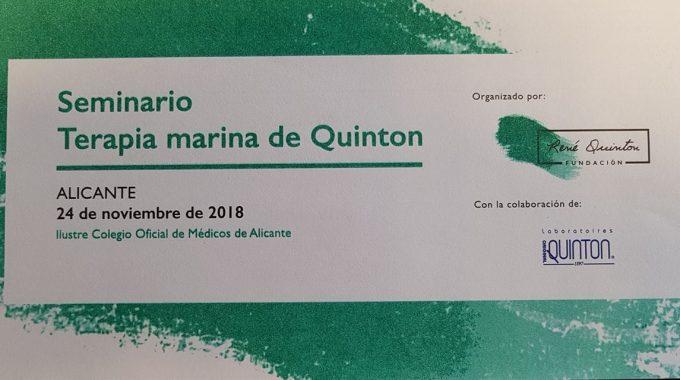 PROXIMO SEMINARIO DE TERAPIA MARINA DE QUINTON. INSCRIPCIONES EN ESCUELA TENAC.