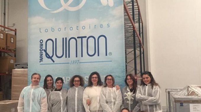 VISITA Y FORMACIÓN EN LABORATORIOS QUINTON.